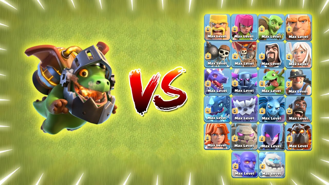 Max Inferno Dragon vs All Max Troops   Clash of Clans   *Overpowered Inferno Dragon*   NoLimits
