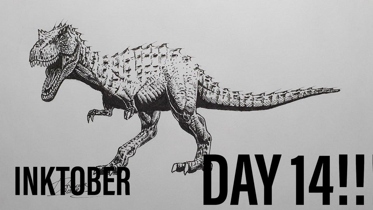 INKTOBER DAY 14!!! Drawing a Quanzhousaurus