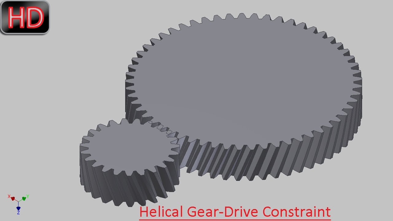 Helical gear drive constraint video tutorial autodesk inventor helical gear drive constraint video tutorial autodesk inventor youtube ccuart Image collections