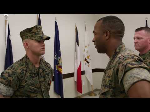 B-Roll - Entire Sequence - Navy and Marine Corps Medal Ceremony for Cpl. David Qualls
