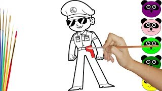 Learn Color with Little Singham Cartoon Drawing - Learn Color Video For Kids Nursary Rhymes