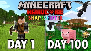 Download lagu I Survived 100 Days as a SHAPESHIFTER in Hardcore Minecraft... Minecraft Hardcore 100 Days