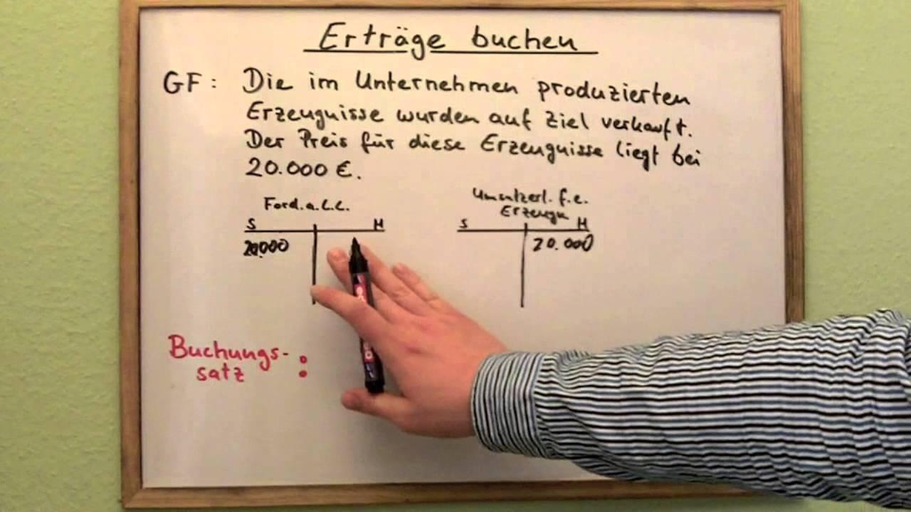 Erträge Buchen Buchhaltung Einfache Erklärung Youtube