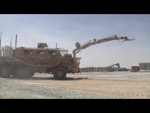 Buffalo MPV Armored Vehicles In Afghanistan / Combat Engineering Vehicle