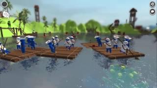 Stupid Raft Battle Simulator Greenlight Trailer