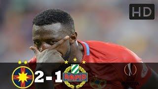 Steaua 2-1 Rapid Viena Rezumat Complet HD 30.08.2018 Europa League