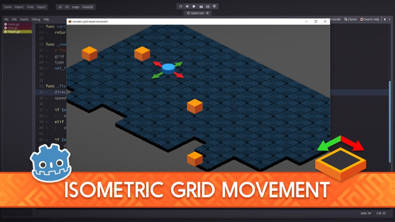 [DEMO] Isometric Grid-Based Movement in Godot 2