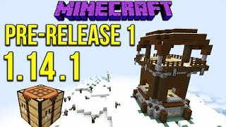 Minecraft 1 14 1 Pre Release 1 Snowy Pillager Outpost New Crafting Bench Texture Minecraftvideos Tv