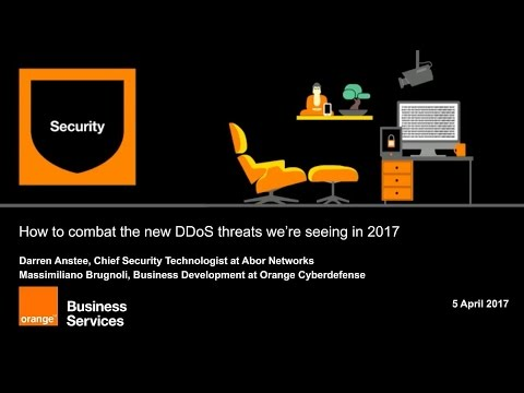 DDoS: how to counter the new threats we're seeing in 2017 About this webinar