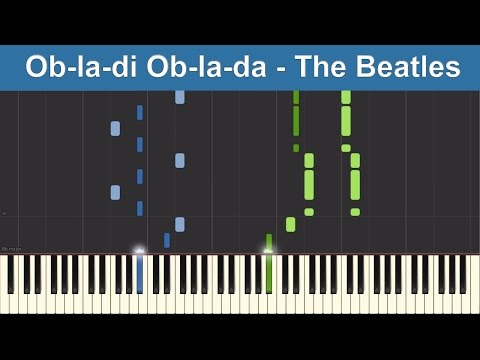 Ob-la-di Ob-la-da - The Beatles - Synthesia Piano Tutorial