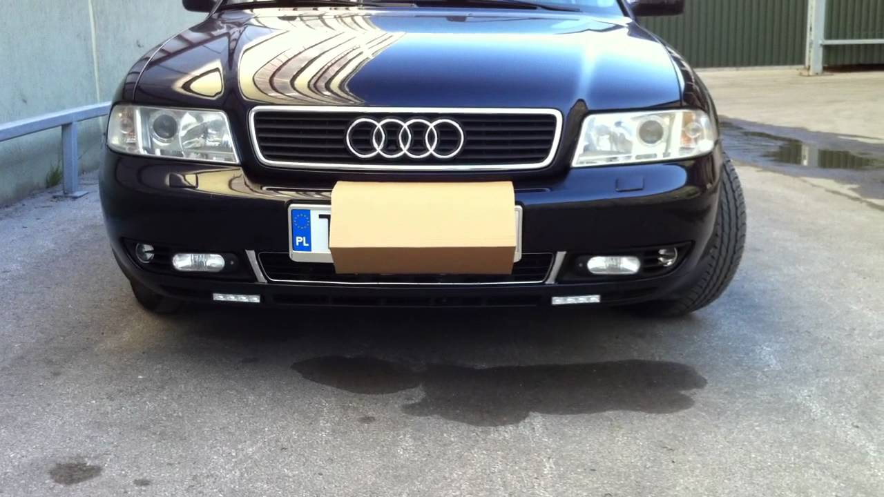 audi a4 b5 headlights fog lights drl youtube. Black Bedroom Furniture Sets. Home Design Ideas