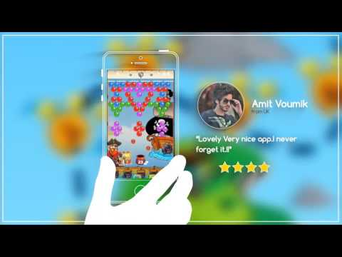 FREE Mobile App Gameplay - Awesome Pirate King Bubble Shooter Game For Mobile On Android Devices