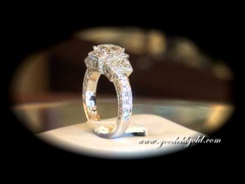 custom made engagement ring with custom cut radiant cut youtube - Custom Made Wedding Rings