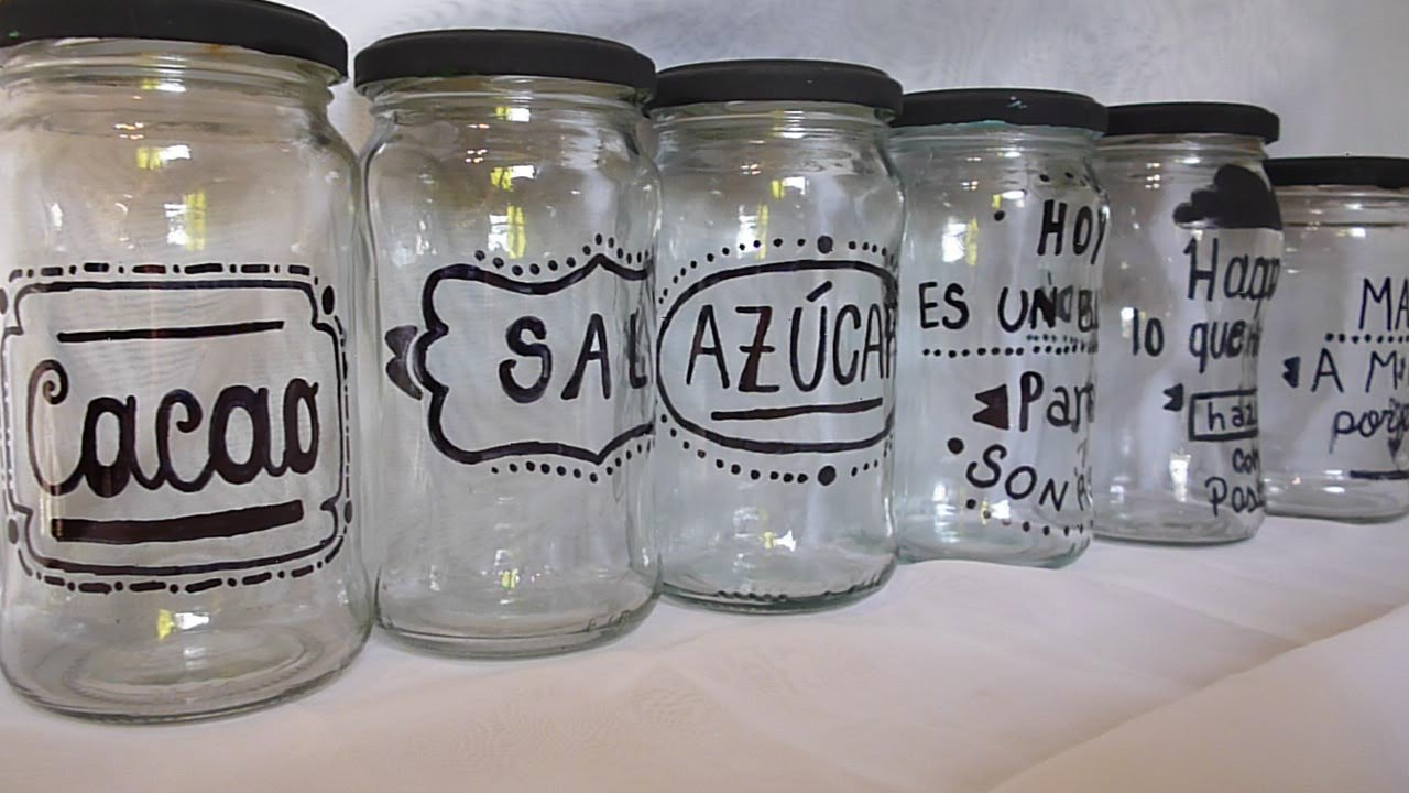 Frascos de vidrio reciclado youtube for Ideas para decorar frascos de vidrio
