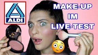 ALDI MAKE UP im LIVE TEST | FULL FACE only using ALDI PRODUCTS