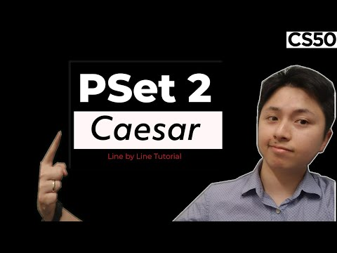 CS50 Caesar Cipher Solution - PSET 2 | 2019 Step by Step Tutorial | Live Coding