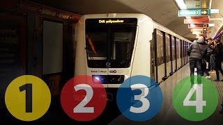 Metró Budapest // M1, M2, M3 & M4