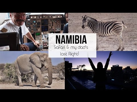 •FLYING IN THE COCKPIT & SAFARI IN NAMIBIA•  Africa travel VLOG ✈