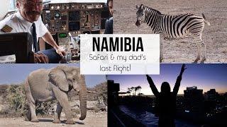 •FLYING IN THE COCKPIT & SAFARI IN NAMIBIA•  Africa travel VLOG ✈