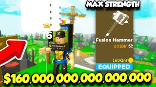 BUYING THE $160,000,000,000,000 HAMMER IN HAMMER SIMULATOR AND BECOMING OP! (Roblox)