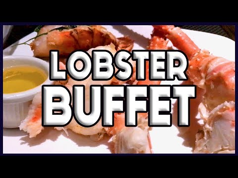 All You Can Eat Lobster Bally's Las Vegas Buffet FULL TOUR