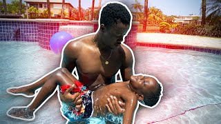 Billy Saved Siah From Drowning!! *First Swimming Lesson*