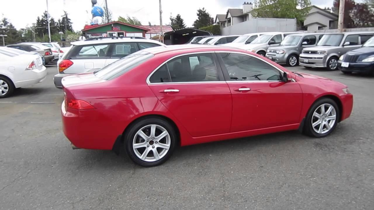 2004 acura tsx red stock l013418 walk around youtube. Black Bedroom Furniture Sets. Home Design Ideas