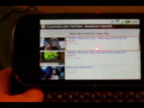 How YouTube works on the Motorola Cliq!!!!!!