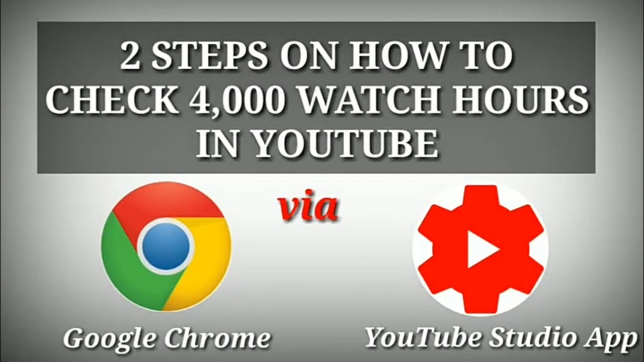 Download 4000 Watch Hours in YouTube - How to check Public Watch Hours