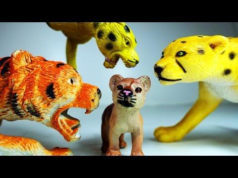 Приключения Животных. Смелый Львёнок и Злой Тигр. Мультик про Животных Видео для детей Игрушки ТВ