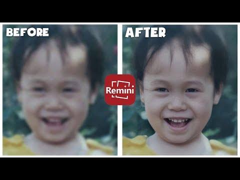 Remini | App phục chế ảnh cũ mờ chất lượng kém | Sinh Lê