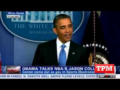 "Obama: ""I Couldn't Be Prouder"" Of Jason Collins"