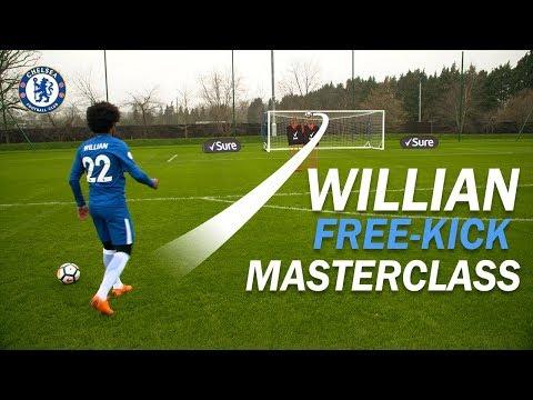 Willian\'s Free-Kick Masterclass! | How To Take the PERFECT Free-Kick with Sure
