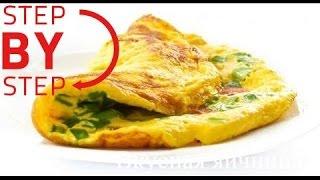 Как приготовить яичницу  Омлет с молоком  Жареные яйца  Простой рецепт завтрака. Fried eggs