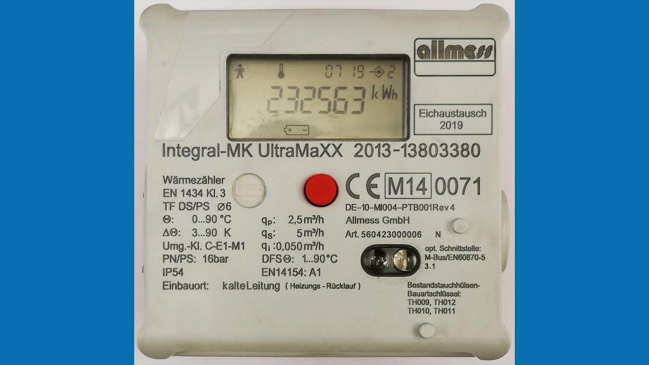 Warmezahler Ultramaxx Von Allmess Richtig Ablesen Und Verstehen Youtube