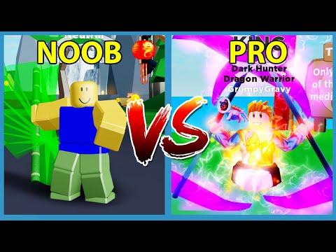 Noob Vs Pro In Roblox Ninja Legends Youtube