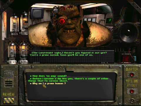 Fallout 1 Lieutenant Talking Head