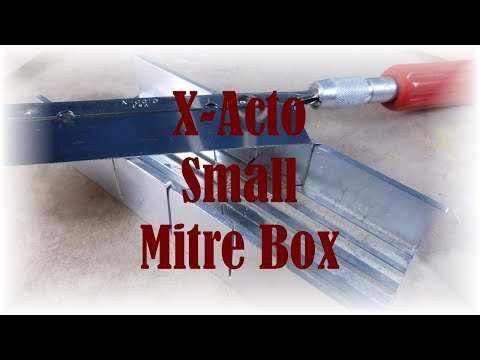 Tools for Making Dollhouse Miniatures- X-Acto Small Mitre Box