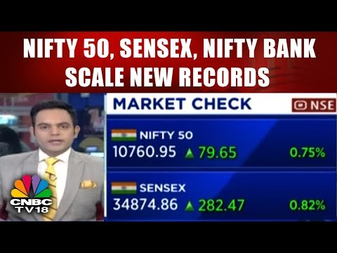 Nifty 50, Sensex, Nifty Bank Scale New Records; ICICI Bank Up Nearly 6% || CNBC TV18