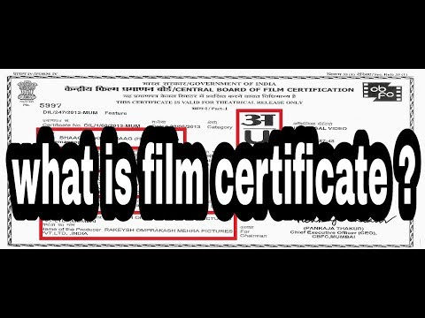 what is central board of film certification ? / indian censor board