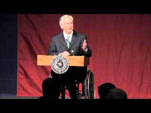 Texas Attorney General Greg Abbott speaks in San Antonio