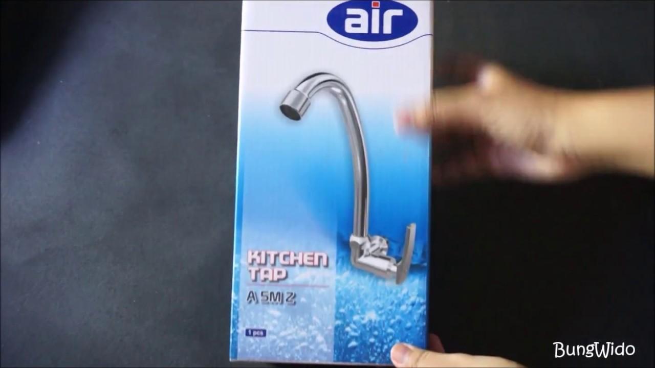 Unboxing Air Kran Dapur Keran Angsa Kitchen Faucet Wall Mounted A 5m Z