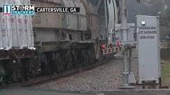 Snowing in Georgia | Snow falls in Cartersville