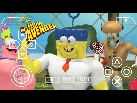Spongebob The Yellow Avenger Ppsspp Gameplay Di Android