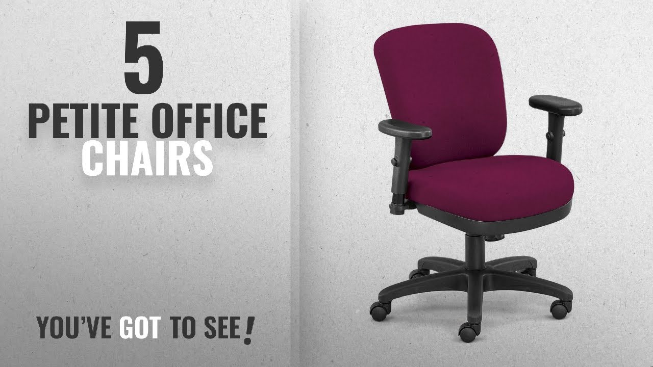 petite office chairs. Top 10 Petite Office Chairs [2018]: Compact Low Height Ergonomic Chair In Fabric Dimensions:
