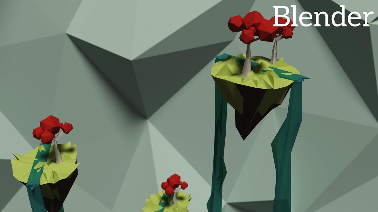 Blender tutorial low poly islands youtube baditri Choice Image