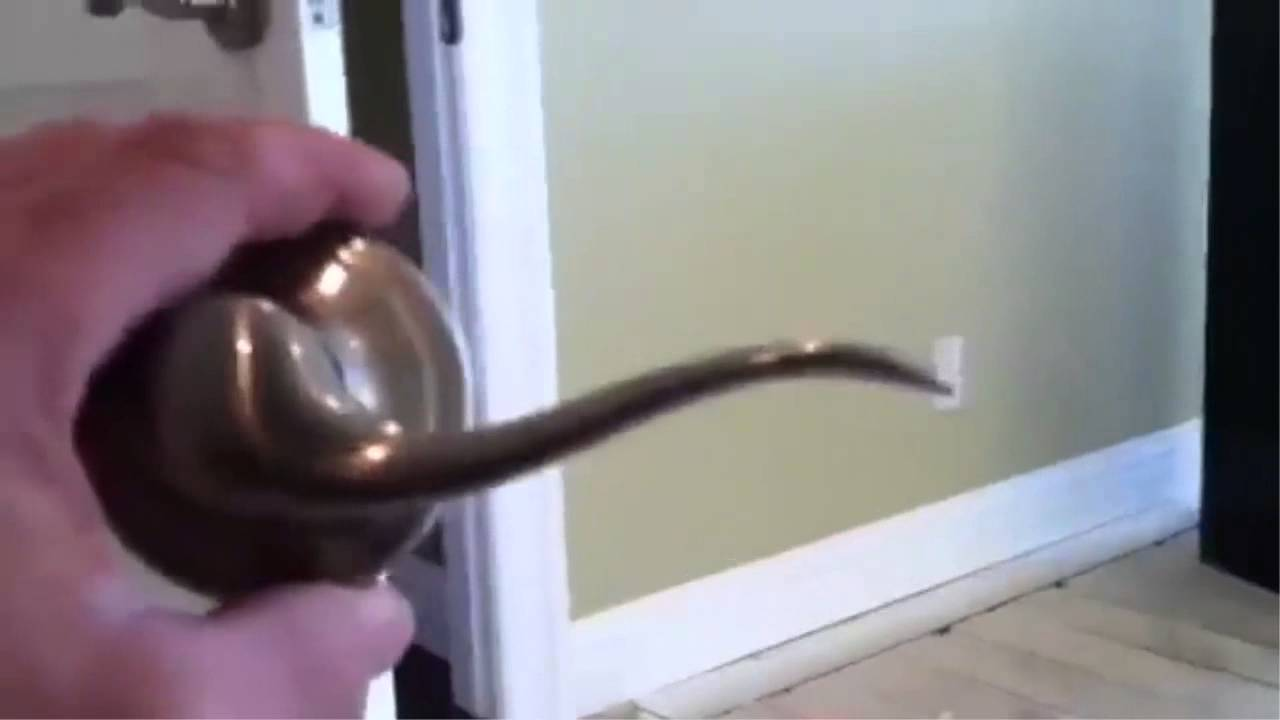 How To Install A Kwikset Interior Door Lock Purchased At Home Depot Youtube