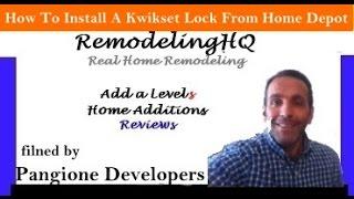 How Install Kwikset Interior Door Lock Purchased Home Depot
