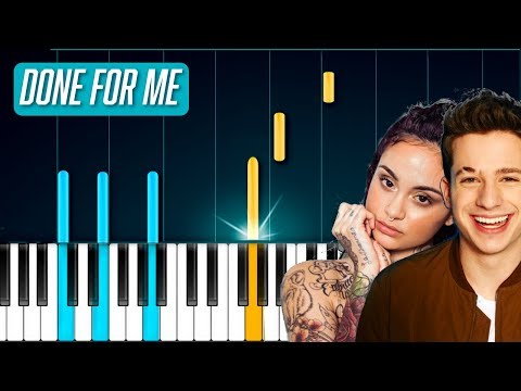 """Charlie Puth - """"Done For Me"""" ft Kehlani Piano Tutorial - Chords - How To Play - Cover"""