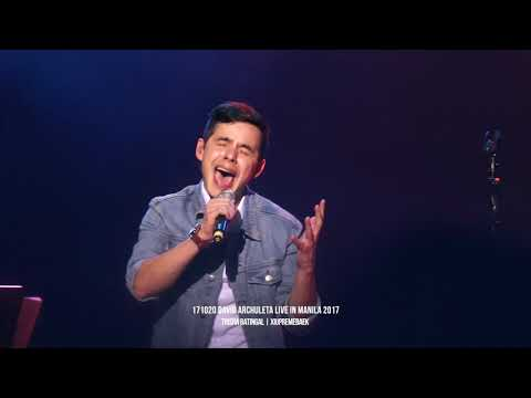David Archuleta Live in Manila 2017 - A Little Too Not Over You